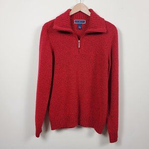Karen Scott Cable-Knit Sweater Red Size M